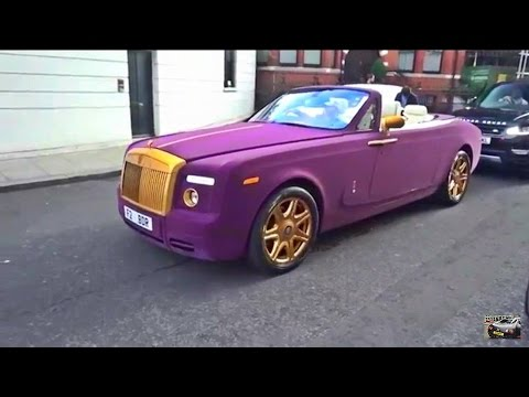 PURPLE VELVET & GOLD Rolls Royce in London!