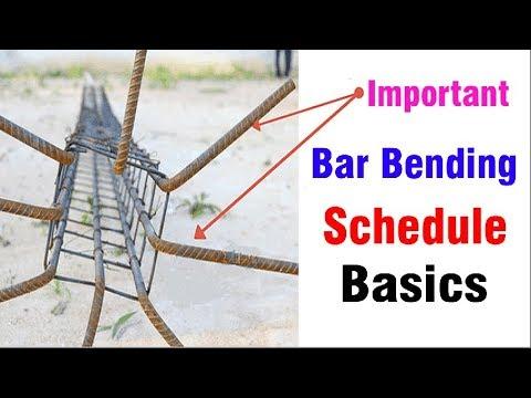 Bar Bending Schedule Basics - Bar Bending Schedule for Steel