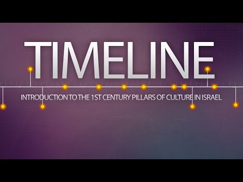 TIMELINE: Introduction To The 1st Century Pillars Of Culture In Israel