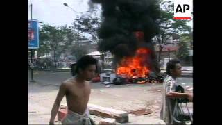 INDONESIA: MEDAN: 2 DAYS OF RIOTING LEAVES TRAIL OF DEBRIS