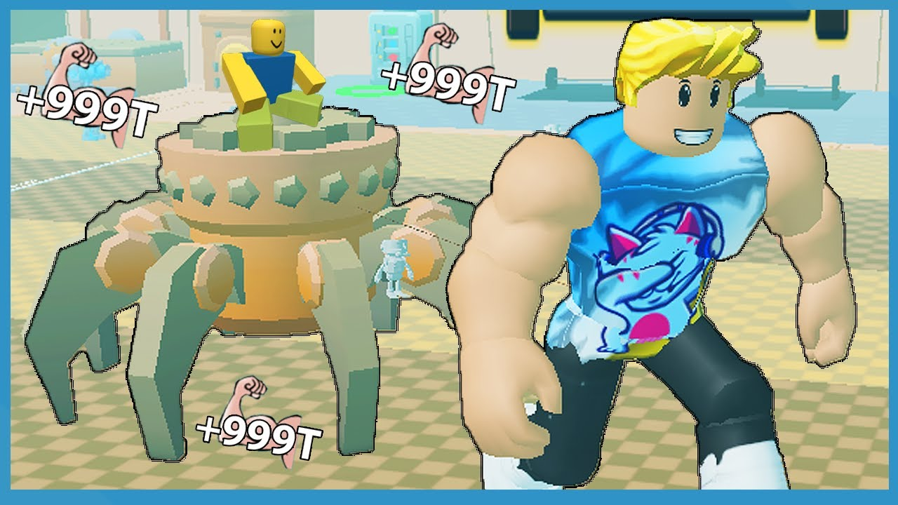 Download Rebirthing to Become The Strongest in Roblox Strongman Simulator