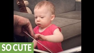 Baby gives hilariously adorable horse impression