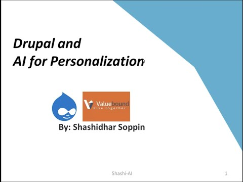 Artificial Intelligence and Drupal | Tech talk series by Valuebound