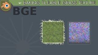 Blender Game Asset Tutorial #3 | Baking Tileable Grass Texture