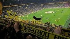 BVB gg. Union Berlin You'll Never Walk Alone und Mannschaftsaufstellung (5:0)