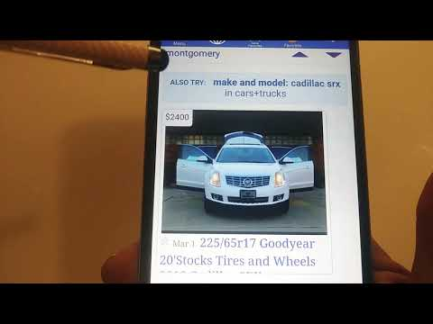 Craigslist List Scam Cadillac For Sale Montgomery Alabama 1-205-506-4118 Anna Jacob