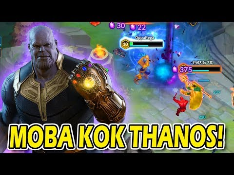 MOBA MARVEL THANOS HERO PALING KUAT 1 HIT MUSUH MATI? - 동영상