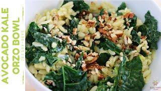 Tasty Kale & Avocado Orzo Bowl With Pecans