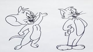 Como dibujar a tom y jerry paso a paso | how to draw tom and jerry