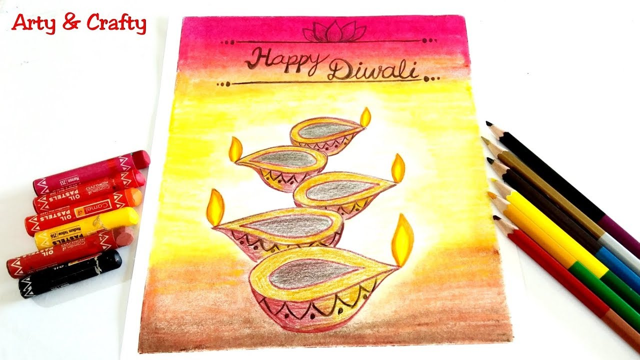 How To Draw Diwali Pictures Step By Step