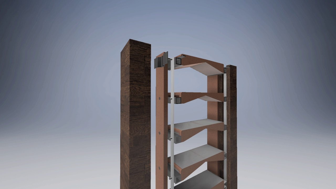 Horizontally Folding Staircase