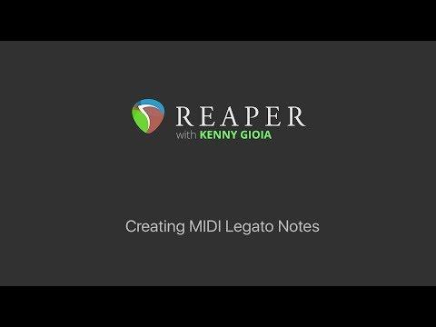 Creating MIDI Legato Notes in REAPER