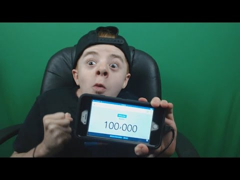 The Reaction Of Me Hitting 100K SUBSCRIBERS!