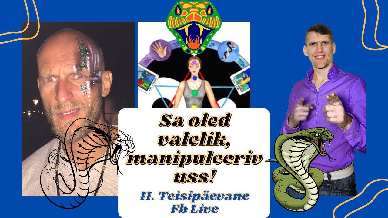 Sa Oled Valelik Manipuleeriv Uss Ja Vastik Salakaval Suslik. 11. fb live külas Armin Pajula