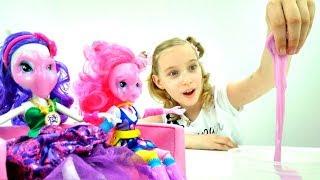Салон Красоты для #ЭквестрияГерлз! Пони #куклы идут на вечеринку🍹 #ИгрыДляДевочек