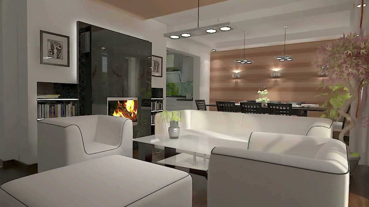 Kuchnia połączona z salonem Kitchen Design and living room