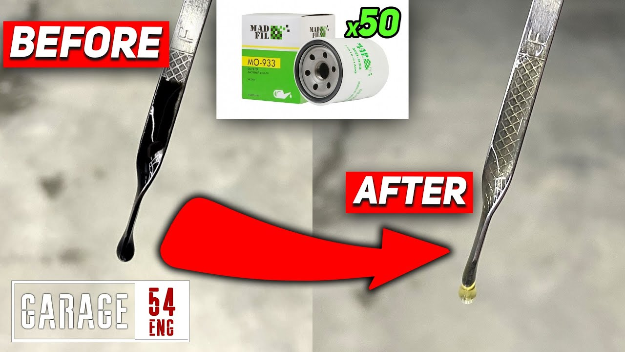 Can 50 oil filters make used motor oil clear again?