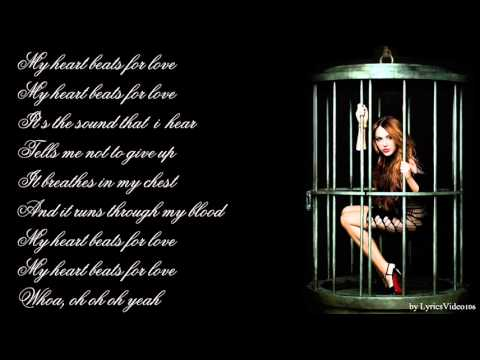 Miley Cyrus - My Heart Beats For Love / with lyrics on screen