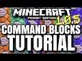 MCPE 1.0.5 COMMAND BLOCKS TUTORIAL! // How to use new command blocks! [Minecraft PE 1.0.5]