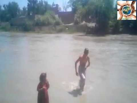 part 01 The kids swimming in the river Cambodia very happy
