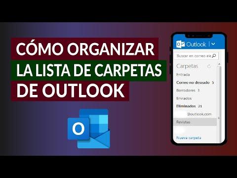 Cómo Cambiar y Organizar la Lista de Carpetas de Outlook Fácilmente