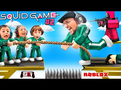 SQUID GAME Split My Family on Different TEAMS! (FGTeeV ROBLOX Red Light Green Light pt 2 Chapter 4)