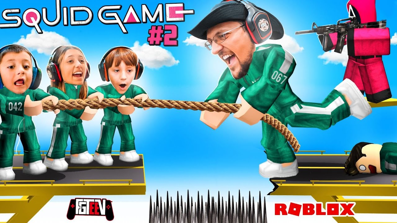 Download SQUID GAME Split My Family on Different TEAMS! (FGTeeV ROBLOX Red Light Green Light pt 2 Chapter 4)