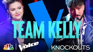 Corey Ward and Ryleigh Modig Leave Kelly with a Tough Decision to Make - The Voice Knockouts 2021