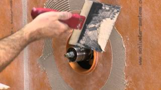 Comment réaliser des passages étanches de tuyau avec Schluter®-KERDI-SEALS & KERDI-FIX