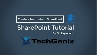 Create a simple team site in SharePoint Online