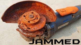 Rusty Jammed Angle Grinder Worst Restoration Ever