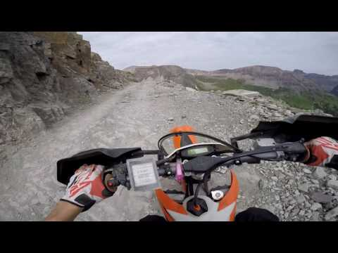 Ouray to Telluride on Imogene Pass-- KTM 450