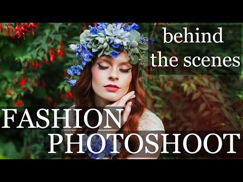 FASHION PHOTOGRAPHY   behind the scenes natural light 35mm portraits