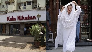 Actress Rekha Ji Spotted At  Kala Niketan Juhu, Mumbai