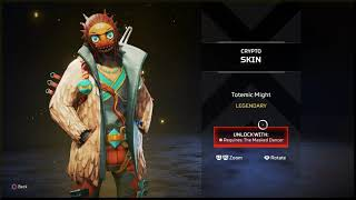 (SHOP VIEW) R301 CRYPTO EXCLUSIVE SKINS - INTELLIGENT DESIGN TOTEMIC MIGHT APEX LEGENDS