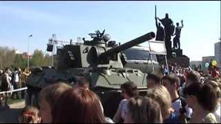 Пермь 9 Мая 2011  День Победы  Военная Техника Фейерверк