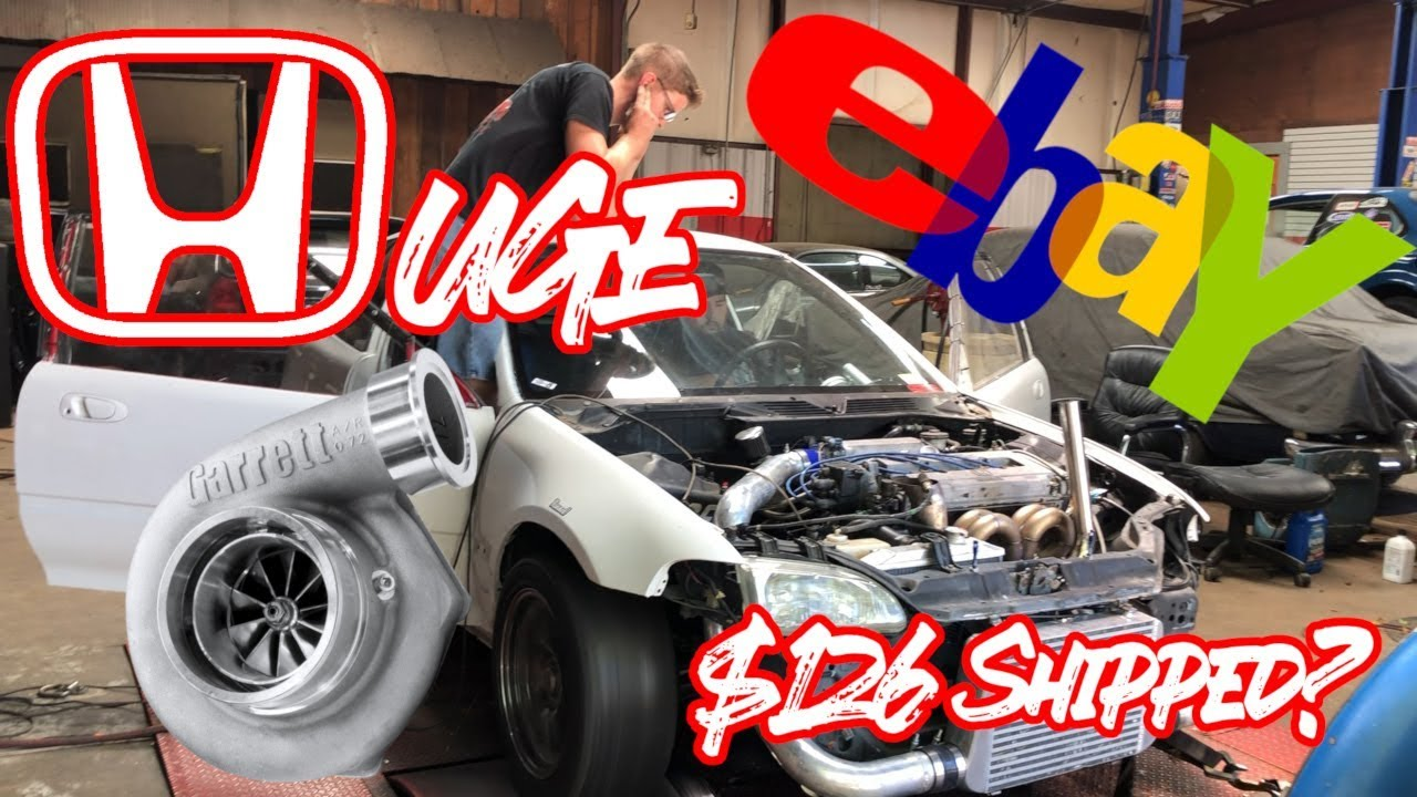 $126 EBAY Turbo Civic DOESN'T BLOW UP!! (500+hp!!?)