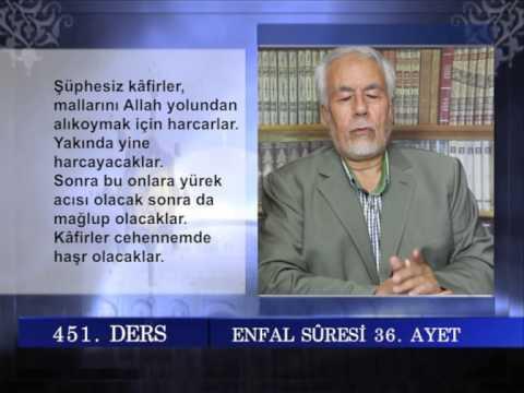 451 TEFSIR GUNLUGU MAHMUT TOPTAŞ ENFAL SURESİ AYET 29 40