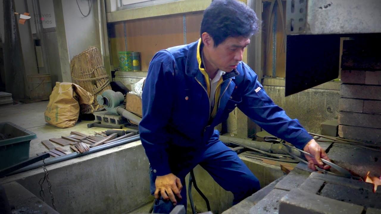 sukenari hamono japanese kitchen knife making forging sharpening