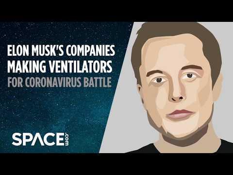 Elon Musk's companies making ventilators for coronavirus battle