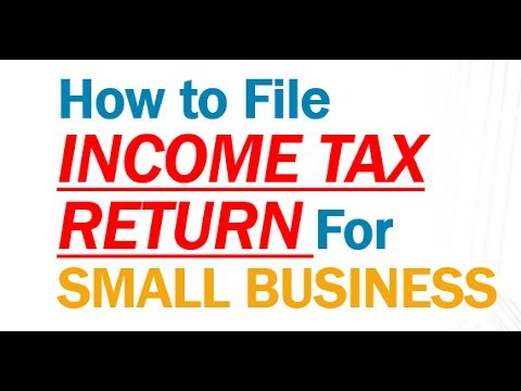 HOW To File INCOME TAX RETURN (ITR) For SMALL BUSINESSMAN |