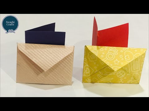 How to Make a Card with Envelope   DIY - Mini Envelope   Handmade greeting card
