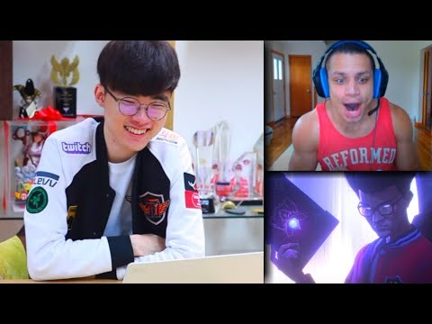 "Faker Reacts to his Own Cinematic ""RISE"" ft.Tyler1,TF Blade & BoxBox 