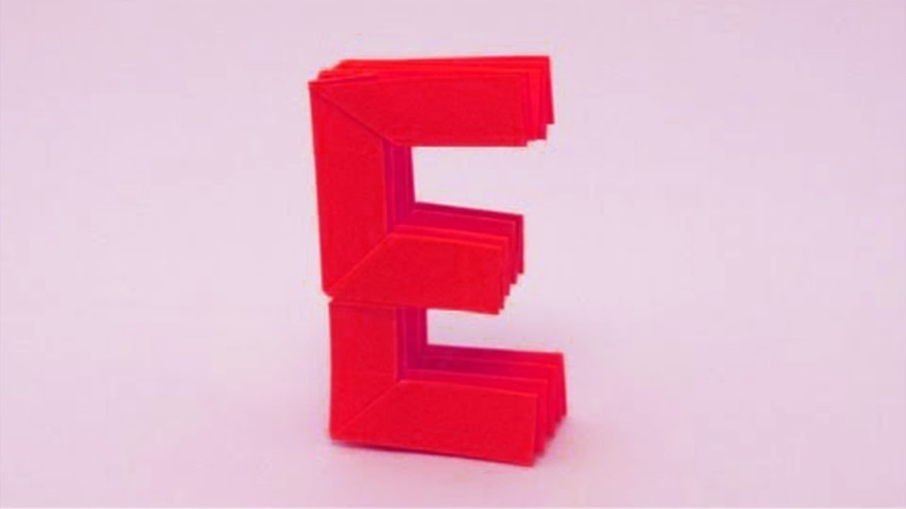 origami letter e by ashvini youtube