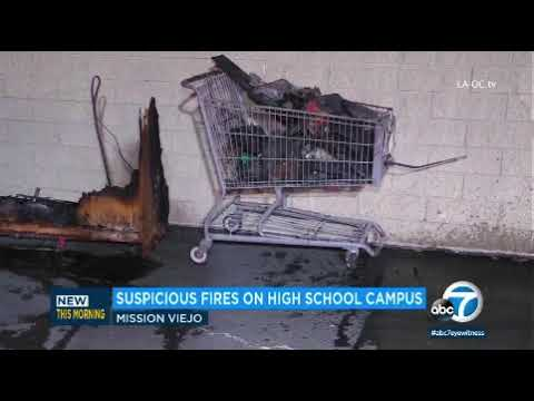 Fire at Mission Viejo High School  3.28.18
