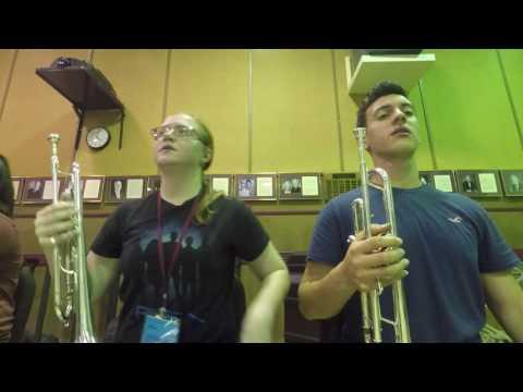 Trumpets Behind The Scenes. FSU Summer Music Camp 2017.