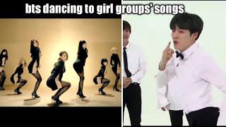 BTS dancing to girl groups' songs💜 2021