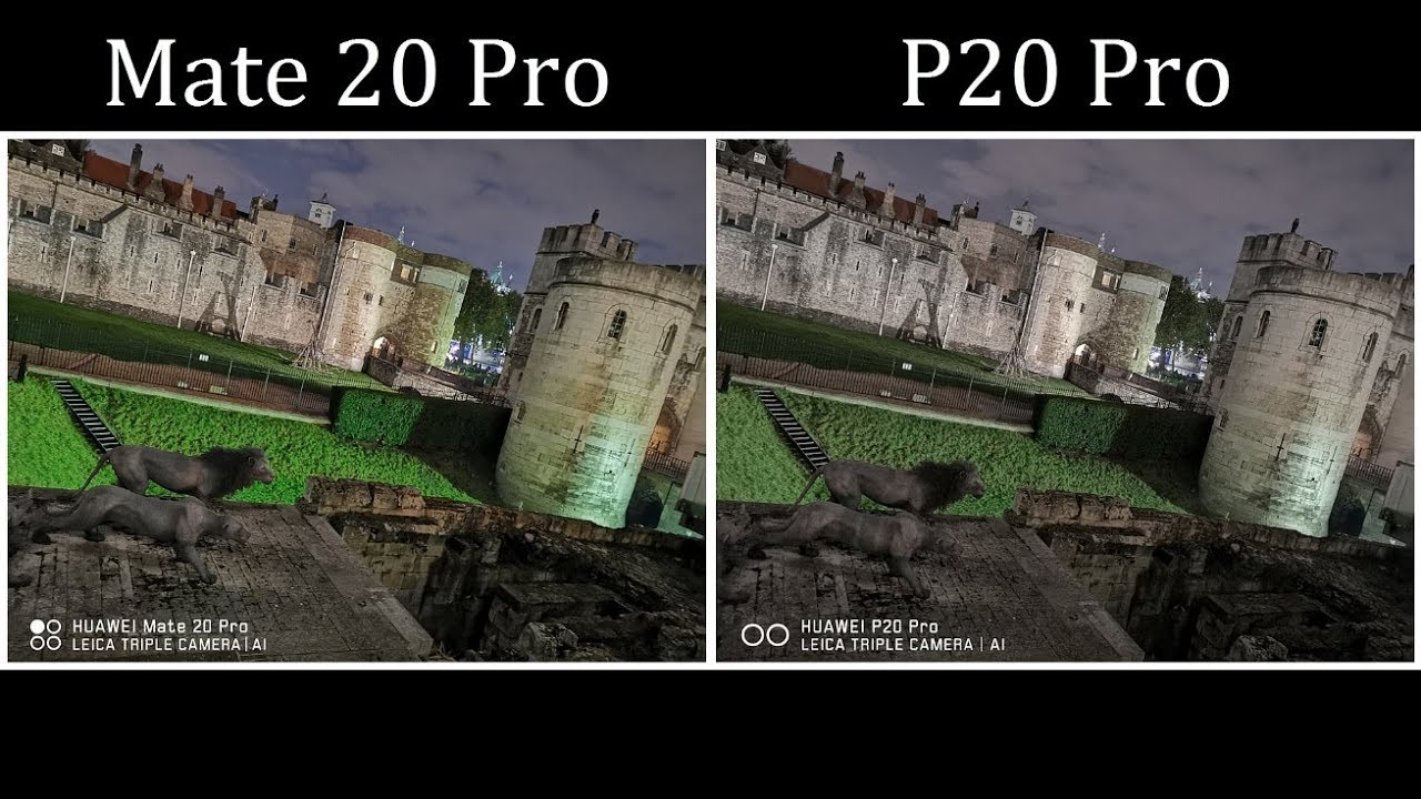 Huawei Mate 20 Pro Vs Huawei P20 Pro - Low Light Camera Comparison