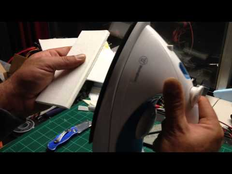 How to make control surface hinges in foam board without cutting