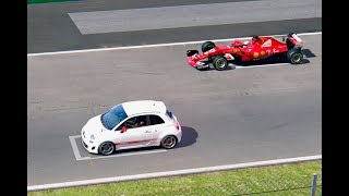 Ferrari F1 2017 vs Fiat 500 Abarth EsseEsse - Monza